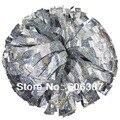 "cheerleading Pom poms 3/4""x 6""~custom color metallic holographic silver mini order 10 pieces"