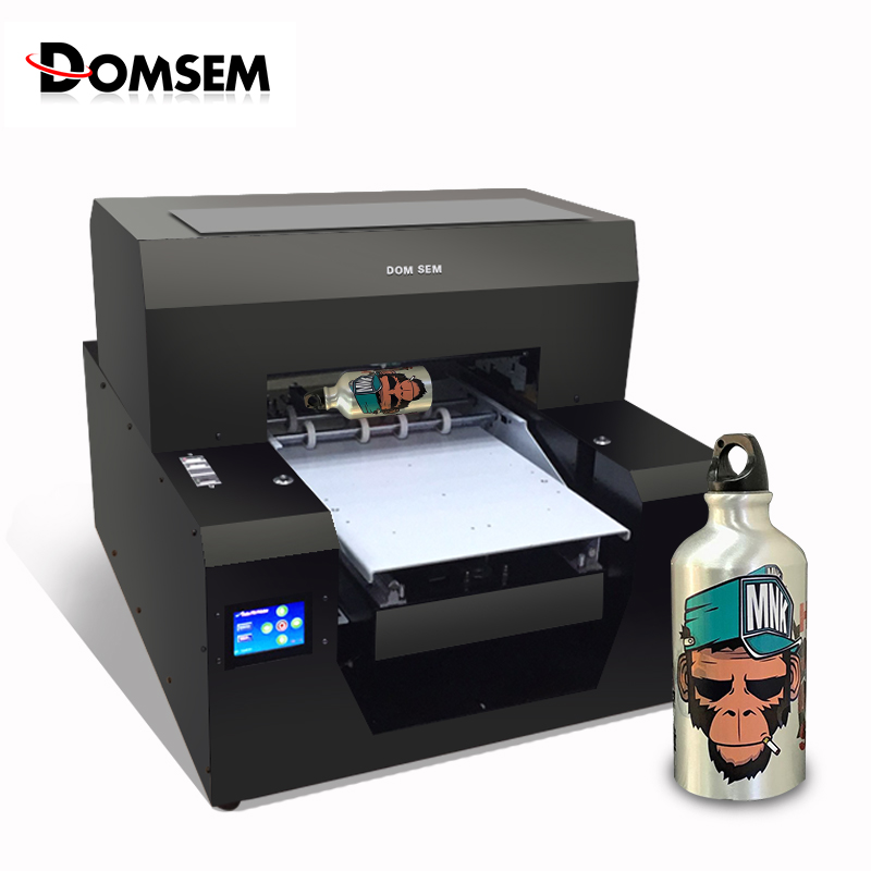 Multi Portable UV Printer A3 Size Inkjet Flatbed Printing Machine With Rotary For Flat and cylinder bottle Relief 3D embossed 1