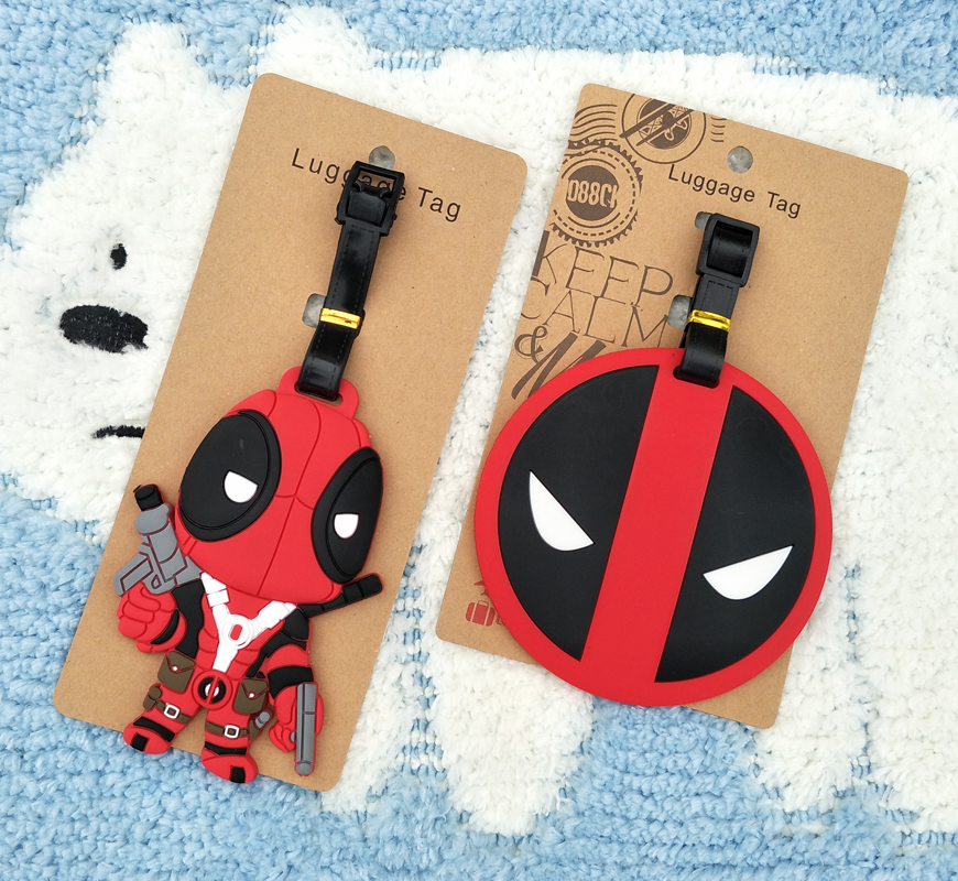 IVYYE Deadpool Anime Travel Accessories Luggage Tag Suitcase ID Address Portable Tags Holder Baggage Labels New