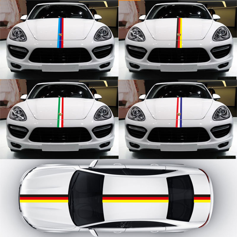 15cmx25M Car Sticker Sport And Decal PVC Stickers for Whole Body Car Styling Tricolor car styling quality vinyl decal sticker cool racing sport stripes car stickers on the whole body car accessories for toyota reiz