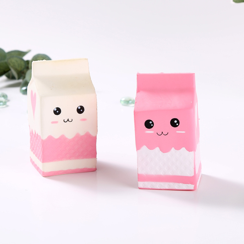 2018 Kawaii Squishy Milk Box Bag/bottle/can Squeeze Fun Soft Slow Rising Stress Reliever Jumbo Squishes Food Cute Antistress Toy