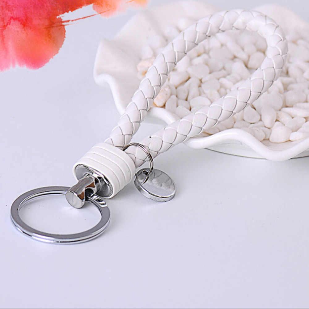 Металлические брелки для влюбленных подарок на день рождения брелок Высокое качество t красочный Новый Многоцветный Плетеный кожаный шнур брелок
