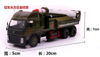 Electronic Pointed Short Range Missiles Field Army Military Cars Alloy Model Child Toy Car Metal Educational Children Toys