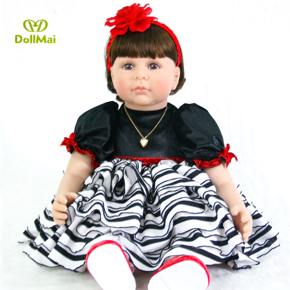 Girl Bebes reborn princess toddler doll 60cm vinyl silicone reborn baby dolls toys  children gift high quality doll reborn toyGirl Bebes reborn princess toddler doll 60cm vinyl silicone reborn baby dolls toys  children gift high quality doll reborn toy
