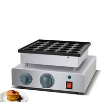 Commercial Use Non stick 25pcs Poffertjes Mini Dutch Pancake Maker Iron Machine Baker With Batter Dispenser