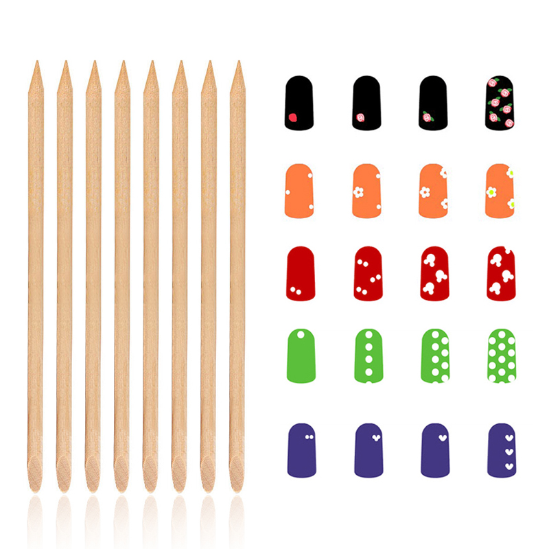 100pcs set Wood Nail Art Orange Stick Polish Remover Manicure for DIY Painting NPW