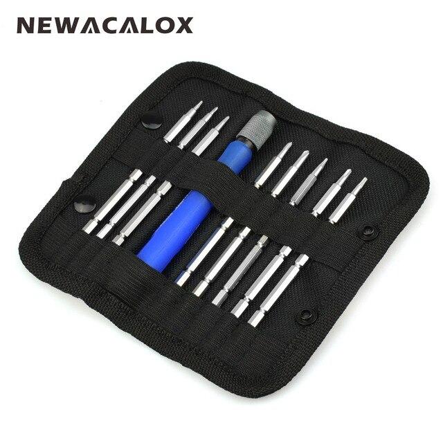 9 Em 1 NEWACALOX Laptop Ferramentas de Reparo Do Telefone Móvel chave de Fenda de Precisão Magnética Chave De Fenda Set Kit de Ferramentas Torx Hex