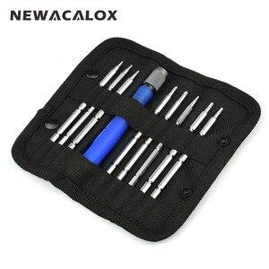 NEWACALOX Mobile Phone Laptop Repair Tools 9 In 1 Magnetic Screw Driver Precision Screwdriver Set Tool Kit Torx Hex