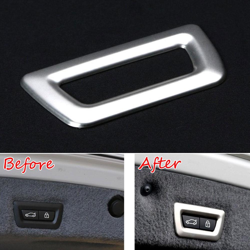 BBQ@FUKA Rear Tail Gate Door Switch Frame Cover Trim Car Styling Sticker For BMW 7 Series 730Li 740Li 750Li F01 F02 2010 - 2015 bbq fuka abs car chrome 740li rear trunk letters badge emblem styling sticker fit for bmw e23 e32 e38 e65 e66 7 series