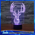 3D Vision David's Deer Stag 7 Colorful Gradients LED Acrylic Plate Desk Lamp Bedroom Decoration Night Light