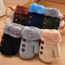 a33234764 New Baby Gloves Mittens Luva Children Mittens Winter Wool Knitted Gloves  Baby Girl Boy Warm Mitaine Enfant Guantes Bebe
