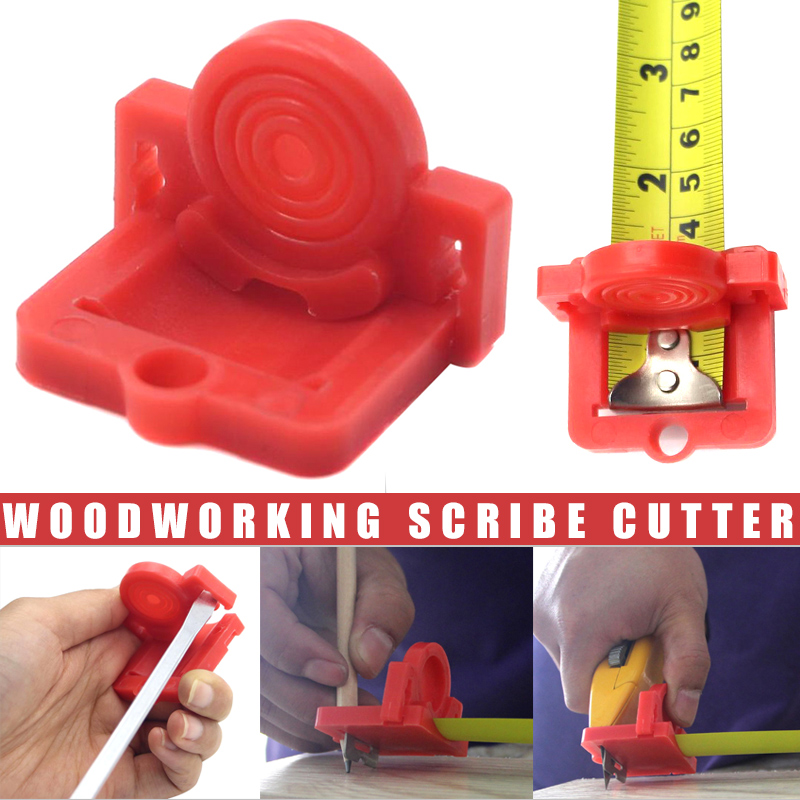 ABS Cut Drywall Tool Guide Tape Measure Attachment For Woodworking Scribing Cutting 43x47x34mm--M25