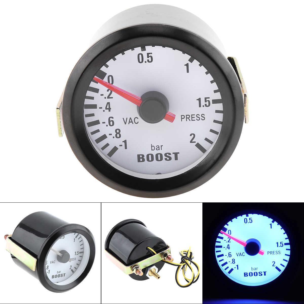 """6031BL 2 """"52mm 12V LED Xanh Dương-1 ~ 2 Thanh Turbo Boost Đo Đồng Hồ với Cảm Biến cho Xe Hơi/Ô Tàu/Xe Tải/ATV"""