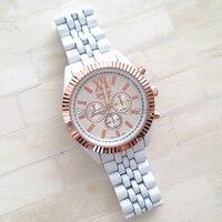 יוקרה זרוק משלוח הלבן ז 'נבה Numberals הרומי נשים שעון אנלוגי