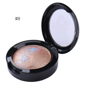 12 Colors Single Baked Radiant Eye Shadow Palette Shimmer Metallic Baked Eyeshadow Eyes Makeup Products(China)