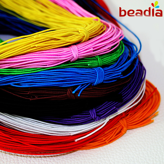 High Quality 1MM Beading elastic Stretch Cord Beads Cord Jewelry Accessories mix color making findings