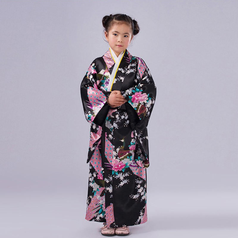 Aliexpress.com : Buy Novelty Pink Japanese Baby Girl Kimono Gown ...