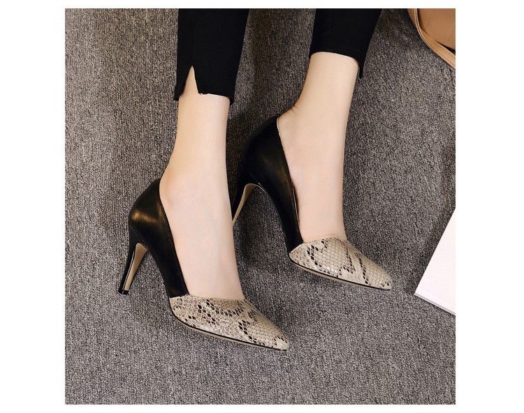 comfortable high heels pointed toe high quality snake grain elegance shoes - free shipping! Comfortable High Heels Pointed Toe High Quality Snake Grain Elegance Shoes – Free Shipping! HTB1GWTANXXXXXcEaXXXq6xXFXXXA