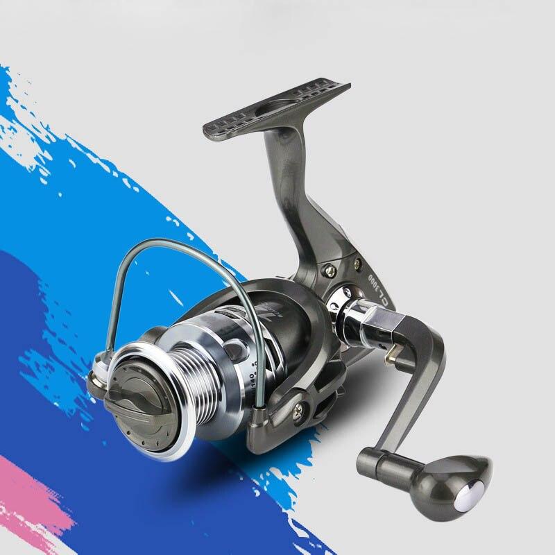 Nuevas llegadas serie CL Metal 12BB rodamiento 5,5: 1 relación goma mango carretes de pesca equipo de pesca al aire libre