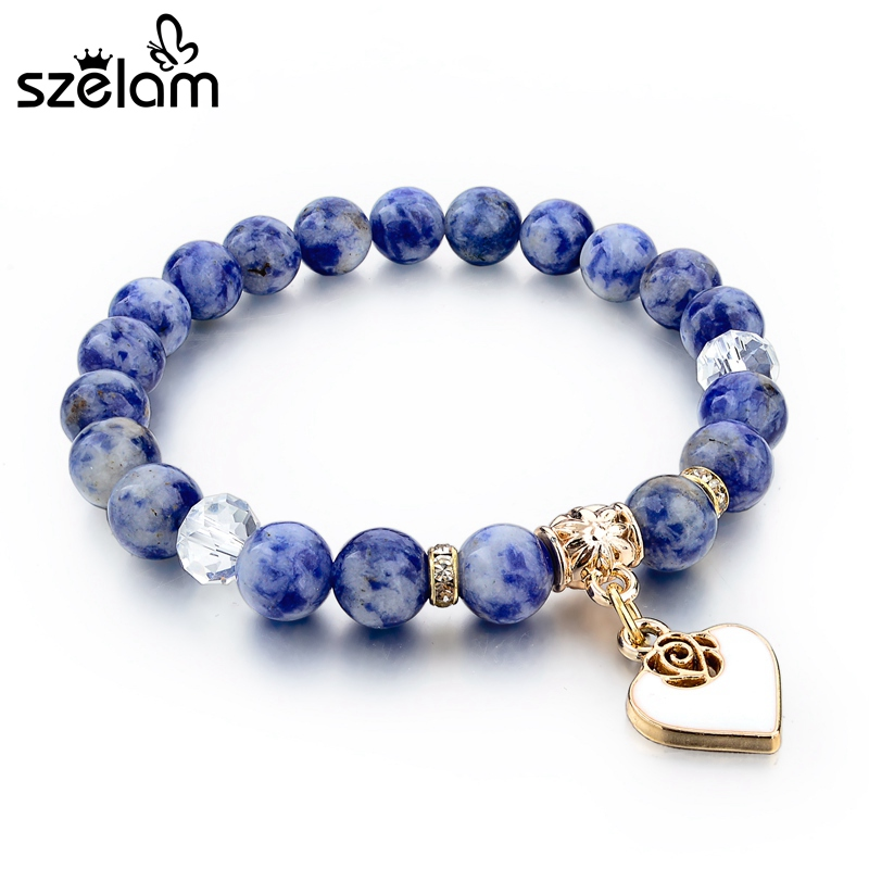 Szelam Bijoux καφέ φυσικό βραχιόλι πέτρα - Κοσμήματα μόδας - Φωτογραφία 5