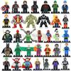 2017 DC Marvel Super Heroes Figure 34pcs/lot Avengers Superman Batman Deadpool Lepin Mini Building Blocks Bricks Set Model Toys