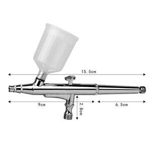 Image 2 - Pistolas de aerógrafo de 40CC con 3 boquillas (0,2, 0,3, 0,5 y mm) y 2 tazas de tatuajes, aerógrafo para pintura corporal artística, manualidades para manicura, utensilios para tartas