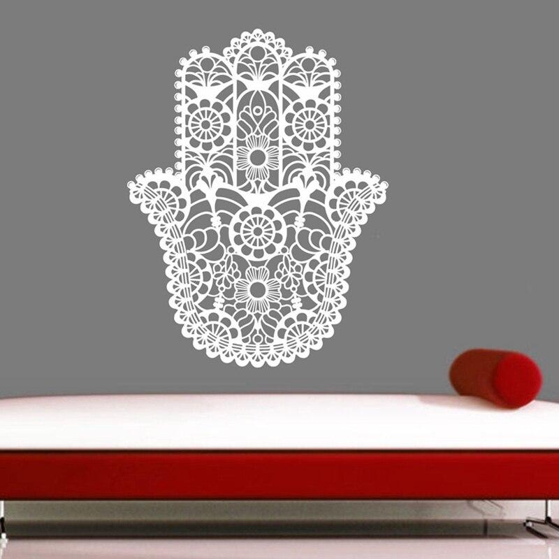 Ручной Будда Мандала Йога Namaste Котировки Наклейки На Стены Стены Стикеры Для Гостиной DIY Home Decor Йога Искусство Росписи Украшения
