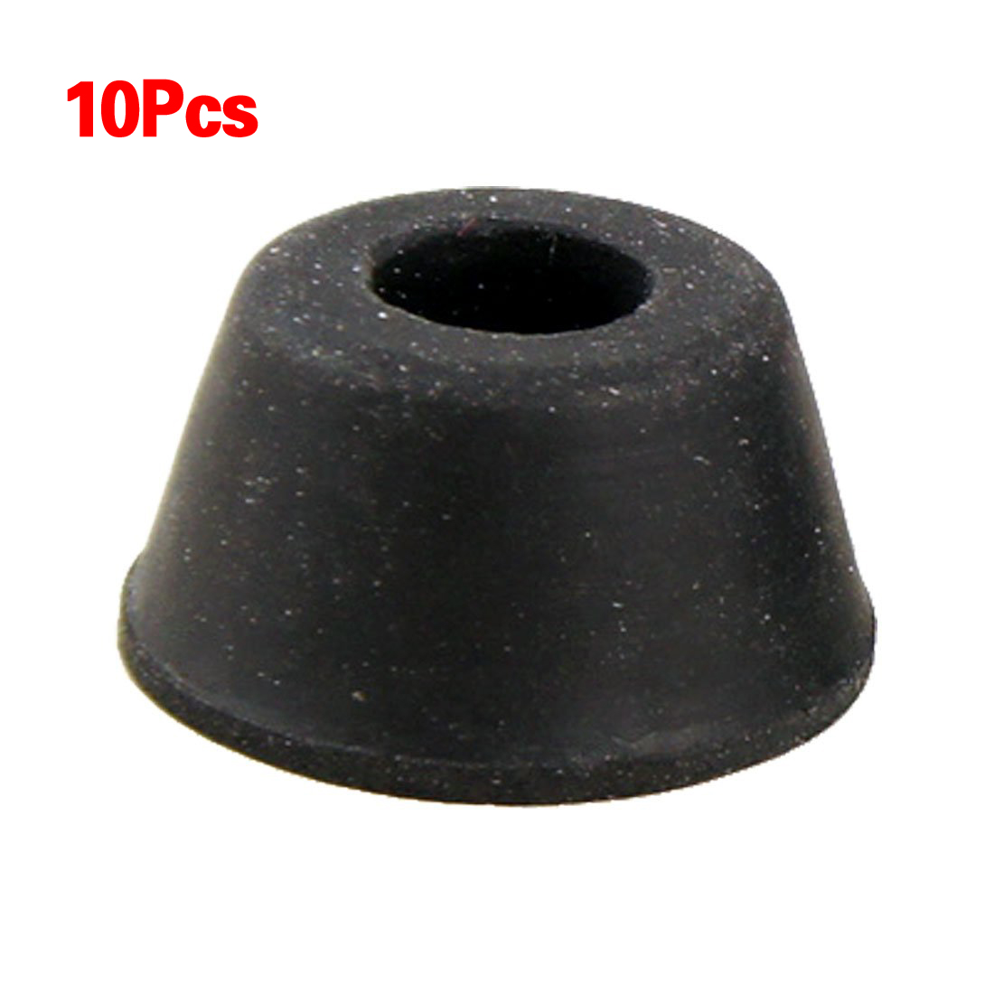 SZS Hot 10Pcs 21mm X 12mm Black Conical Recessed Rubber Feet Bumpers Pads Free Shipping