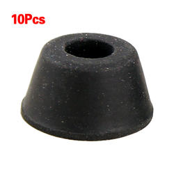 СЗС Горячая 10 шт. 21 мм x мм 12 черный конические Встраиваемые Резиновые накладки на ножки колодки Бесплатная доставка