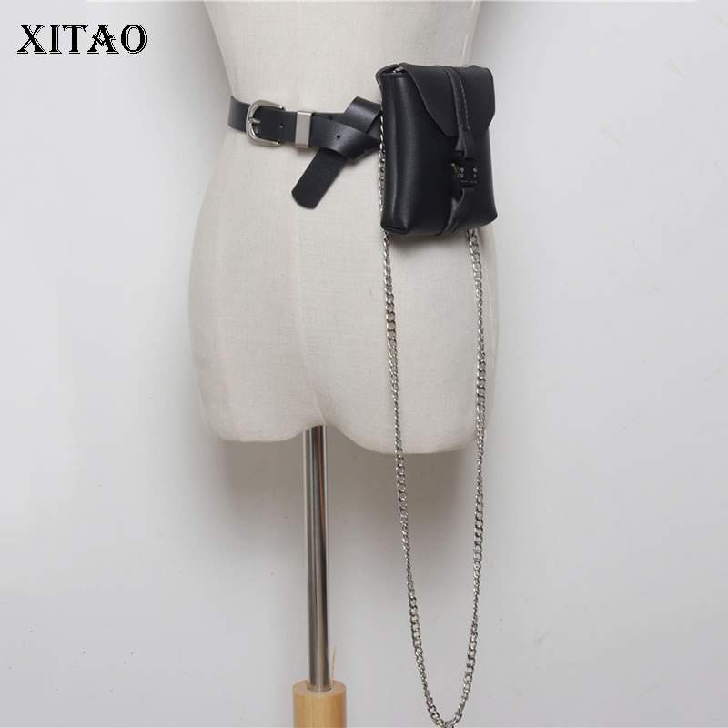 XITAO Women Wild Joker Cummerbunds 2019 Summer Fashion Chain Elegant Summer Print Cold Wind Net Red Cross Body Mini Bag WLD1433