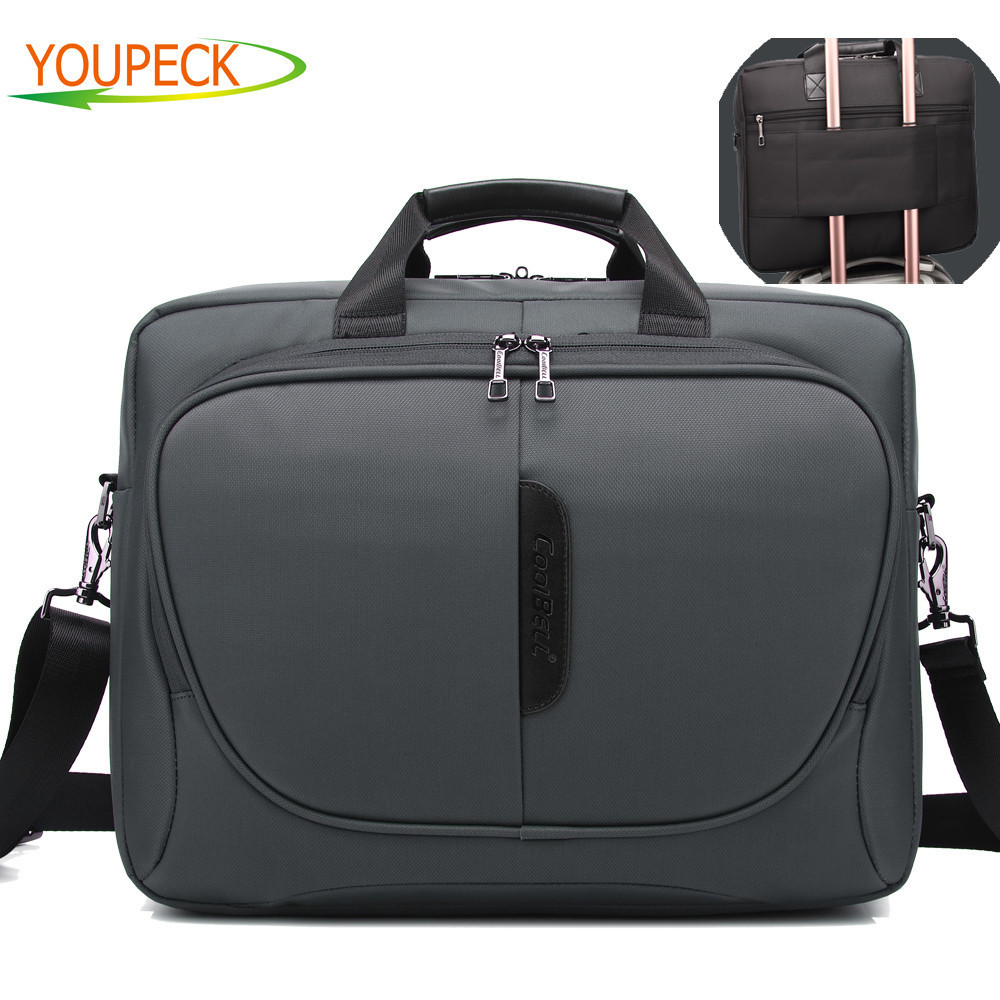 CoolBell Fashion 15.6 inch Laptop Bag 15 Notebook Computer Bag Waterproof Messenger Shoulder Bag Men Women Briefcase Business coolbell fashion women tote bag 15 6 inch laptop handbag nylon briefcase classic laptop bag shoulder bag top handle bag