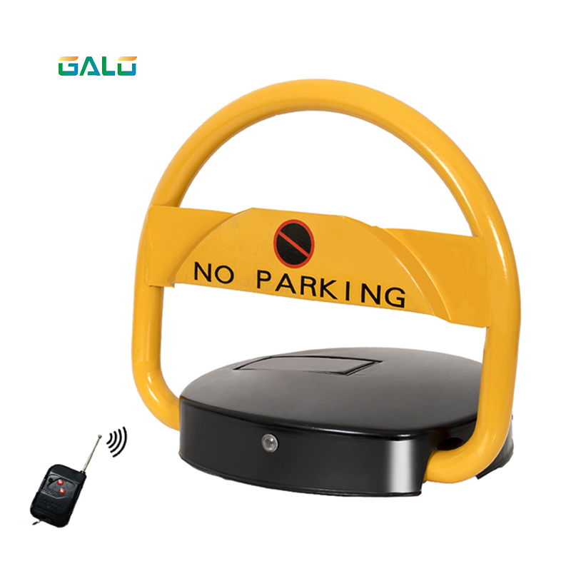 2 Remote Control Car Parking Barrier Bollard Lock Solar System Parking Lock(12V7A Battery Not Included)