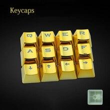 Flashes Electroplated metal coating PBT keycaps for mechanical keyboard 12 keys Cool DIY support backlit RGB for game gamer