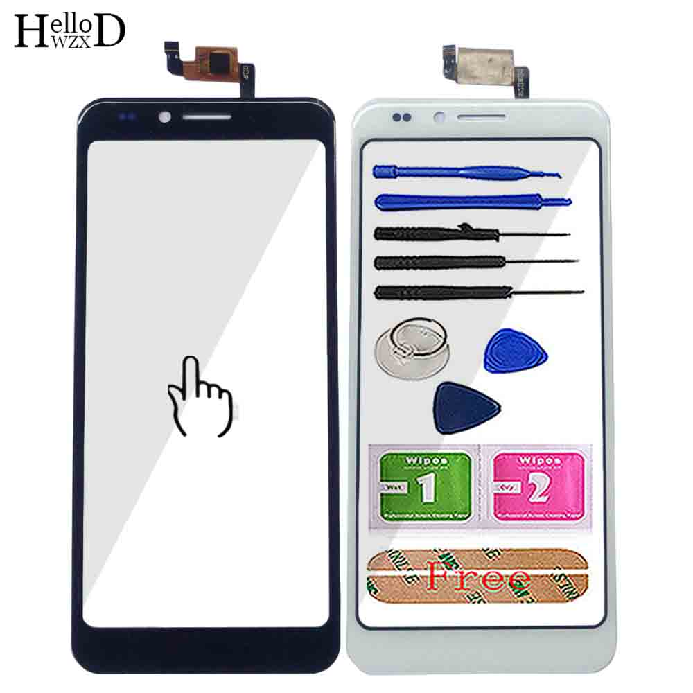 Mobile Touch Screen For Vertex Impress Pear Touch Screen Digitizer Panel Lens Sensor Front Glass Repair Assembly Tool 3M Sticker