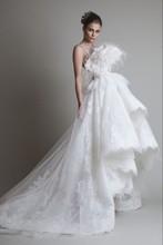 をfreeshipping限定版の豪華な羽の花嫁のウェディングドレス