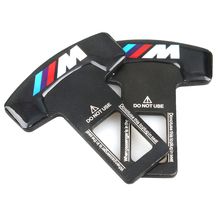 2pcs/lot Car-Styling M Black Car Safety Seat Belt Buckle Clip For BMW M Tech M Sport M3 M5 X1 X3 E46 E39 E60 F30 E90 F10 F30 E36