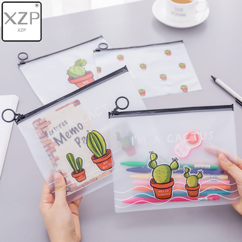 XZP Cute Cactus Transparent Scrub Cosmetic Bag Women Make Up Case Waterproof Makeup Beauty Wash Organizer Toiletry Storage Kit