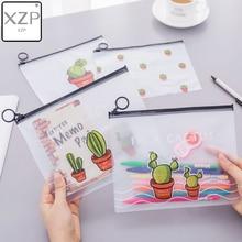 XZP Transparent Cosmetic Bag Women Cactus PVC Travel Zipper Make Up Beauty Toiletry Bags Female Makeup Organizer Cases Pouch