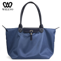 2019 Beach Bag Waterproof Nylon Travel Tote Women Folded Hobos Bags Fashion Handbags For Women Casual Shopping Mummy Bag XA744WB