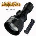 UniqueFire T50 светодиодный фонарик 1503 XML тактический 1200LM водонепроницаемый фонарь + зарядное устройство