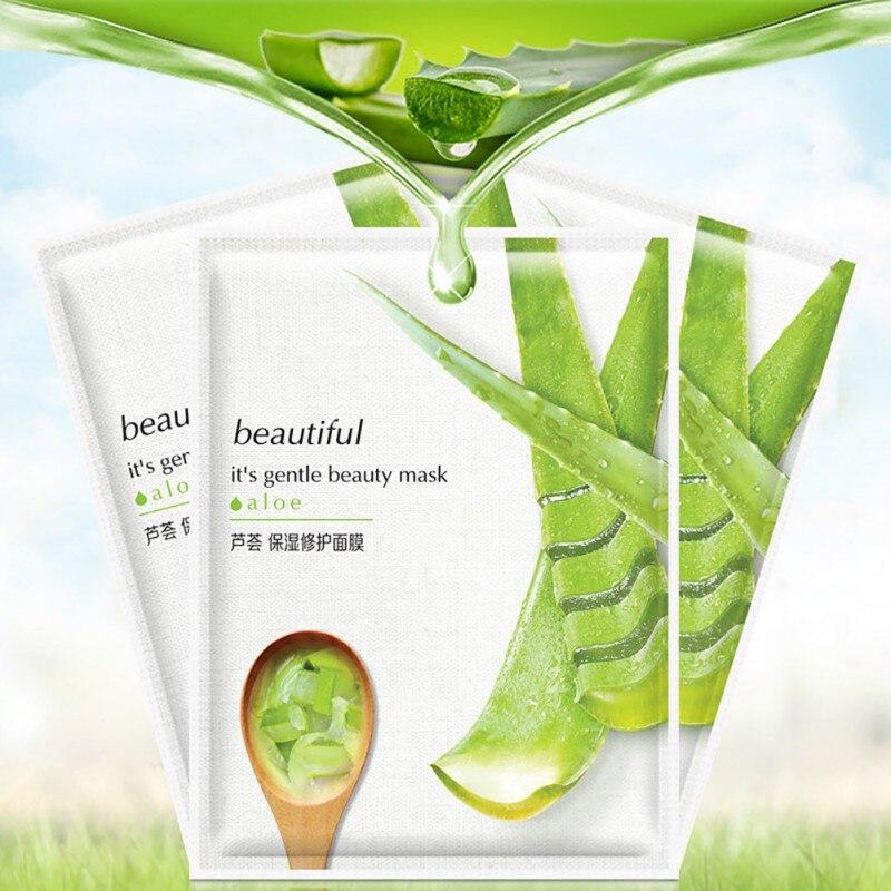 10 stücke ein box Aloe vera moisturizing oberfläche Bleaching ort film schrumpfen poren aloe vera Maske
