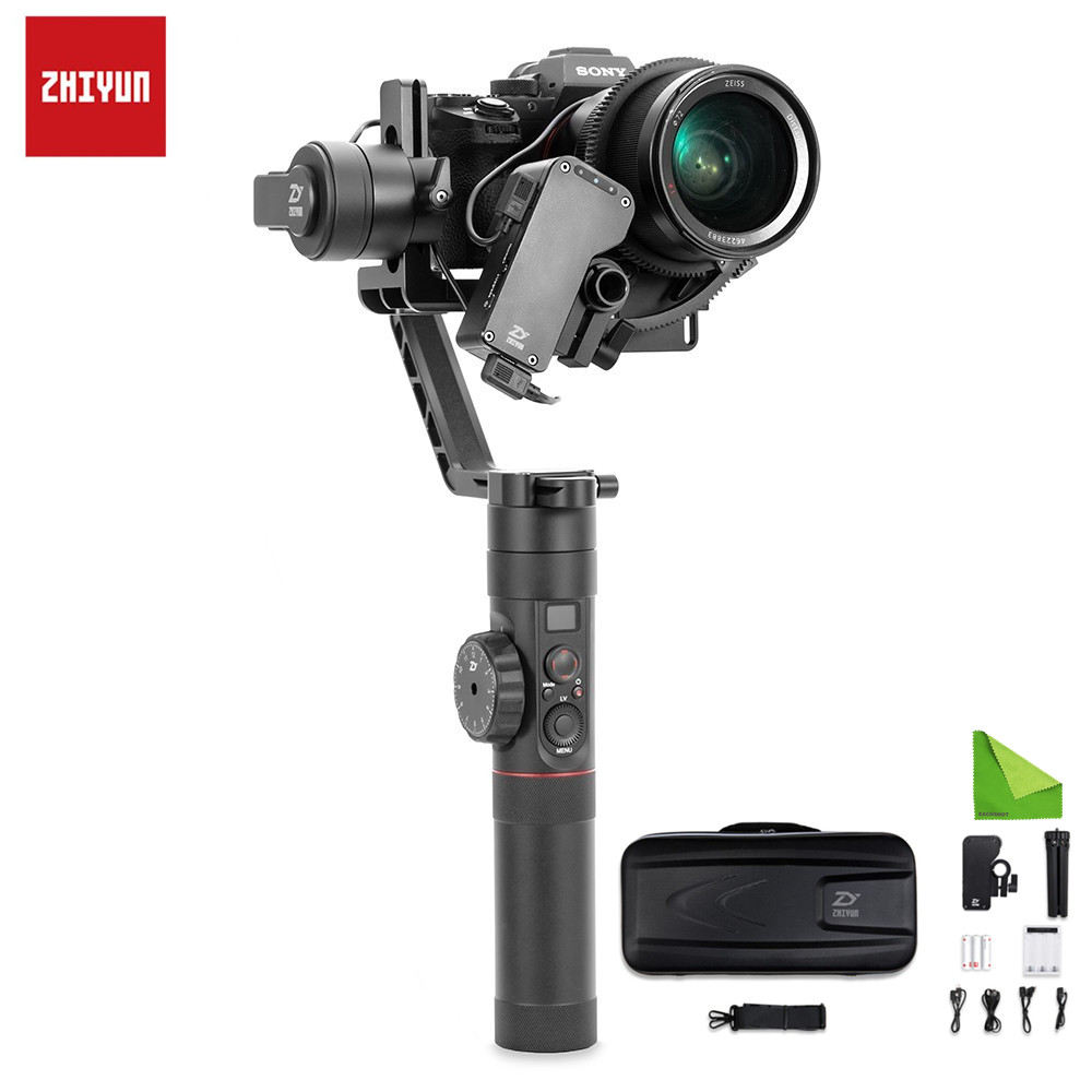 Zhiyun Crane 2 <font><b>3</b></font>-Axis Handheld Gimbal Stabilizer For Canan Nikon Sony Focus Payload Display Balance DSLR Mirrorless Camera image