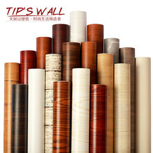 Simple wood pattern waterproof anti-fouling wall paper PVC self-adhesive wall affixed furniture cabinet old door living room bed(China)
