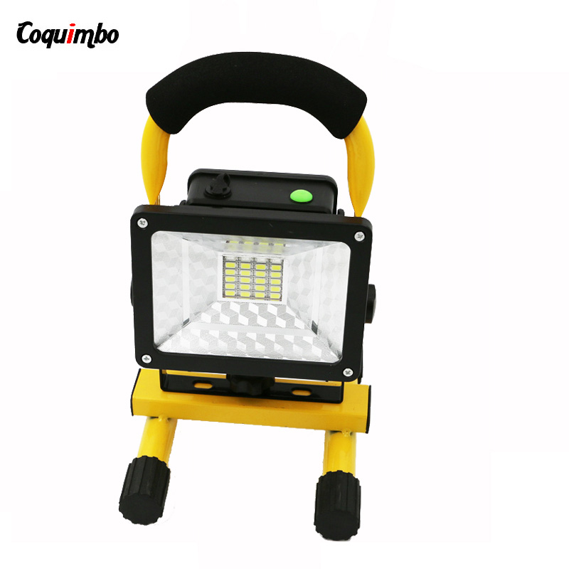 3 Modes 24 LEDs 30W Outdoor LED Flood Light Portable Lamp Work Light LED Rechargeable Lampe Camping Light 2400LM Powerful Light 30w outdoor lantern portable l2 flood light lamp led rechargeable camping hiking torch 3 modes