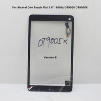 Black Touch Screen For Alcatel One Touch Pixi 3 8 9005x OT9005 OT9005X Touch Panel Digitizer