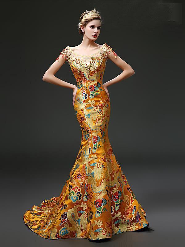 Popular Gold Evening Dresses-Buy Cheap Gold Evening Dresses lots ...