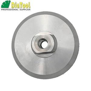 Image 2 - DIATOOL 2 pcs Diâmetro 100mm M14 Backer Para Polimento Pad De Alumínio Com Base, 4 polegadas Almofada de Volta