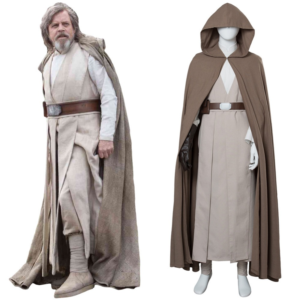 Movie Star Wars Cosplay luke Skywalker Cosplay Costume Full Sets Uniform High Quality Halloween Women Men Costume