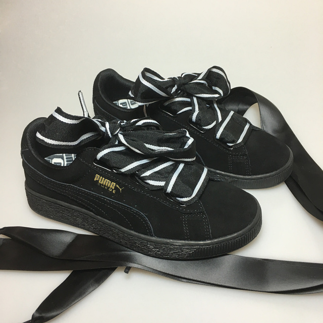 3235ab15e4d Original PUMA Suede Heart Celebrate Women s Sneakers Bow Badminton Shoes  Size35.5-40