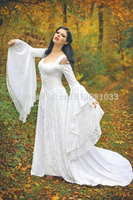 Lady Gwen Lace Up Fantasy Fairy Medieval Wedding Velvet and Lace Gown /Southern Belle Gown Reenactment Theater Costume